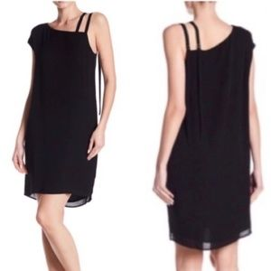 H by Bordeaux Silk Bette Asymmetrical Dres…